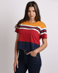 Levi's ® ORANGE TAB TEE Red/Navy/Gold