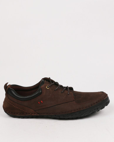 Bronx Swinford Leather Casual Lace Up Shoe Coffee