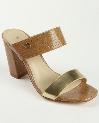 e85784e9372 Bronx Collet Block Heel Sandal Tan | Zando