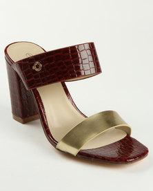 Bronx Collet Block Heel Sandal Burgundy