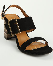 Bronx Dora Block Heel Sandal Black