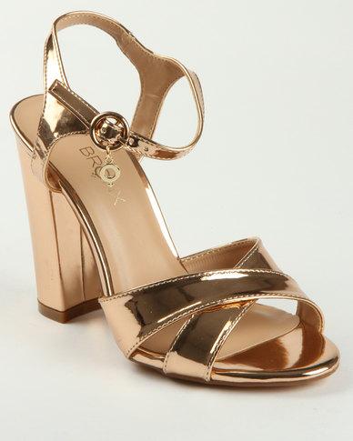 58519ff6b7cb Bronx Liv Block Heel Sandal Rose Gold