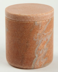 Linen House Marble Canister Pink