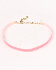 Jewels & Lace 3PK Choker Set Pink