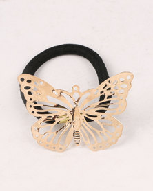 Jewels & Lace Butterfly Hairband Set Black