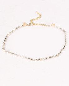 Jewels & Lace 4 Pack Daisy Choker Set Cream