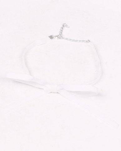 Jewels & Lace 2 Pack Velvet Choker Set White