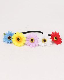 Jewels & Lace Floral Headband Multi