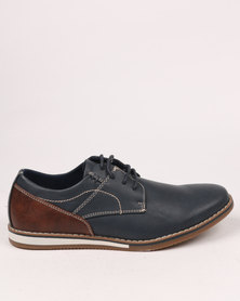 Zah Dylan Casual Lace Ups Navy Blue