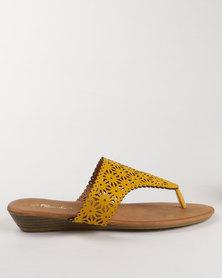 Candy Flat Toe Thong Sandal Mustard