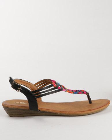 4a1eb10f7e49 Candy Flat Toe Thong Sandal Black