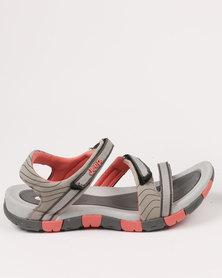 Jeep Blossom Adventure Sandal Grey/Coral