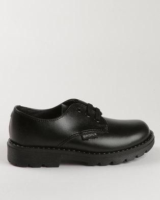 2c9814055e Bronx Men Boys Detention Lace Up School Shoes Black