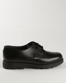 Bronx Men Boys Detention Lace Up School Shoes Black