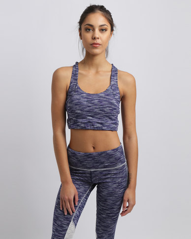 9934e38720 Khongboon Isa Textured Compression Sports Bra Multi