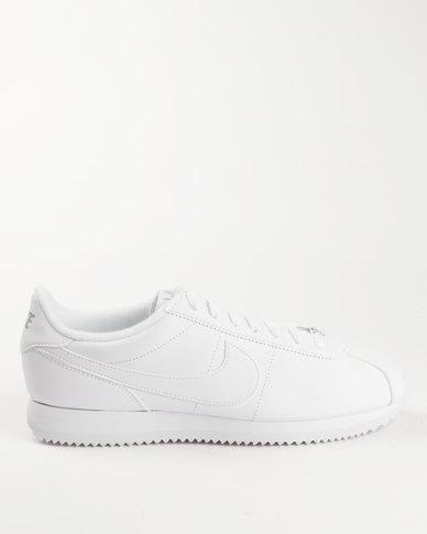 uk availability b91d0 f68d8 Nike Men's Cortez Basic Leather Shoe White