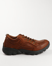 Bronx Kruger Leather Casual Lace Up Shoe Brown