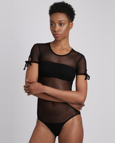Utopia Mesh Bodysuit Black