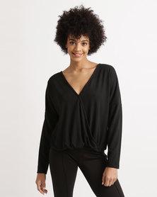 Bombshell Cut & Sew Top Black