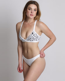 Maaji Domino Cocktail Daisies Sublime Bikini Set White