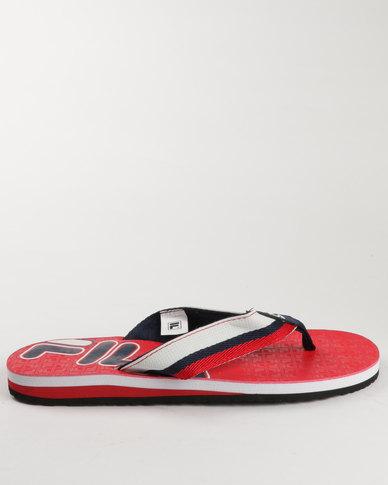 67b7c50f2ea Fila Flat Tow Thong Sandals Red
