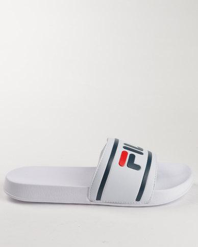 4a75a8625a53 Fila Flat Slip On Sandals White