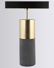 Illumina Azure Brass Lamp Gold-tone