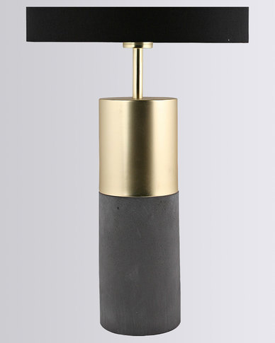 Illumina azure brass lamp gold tone