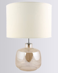Illumina Mist Glass Table Lamp White