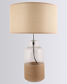 Illumina Rope Glass Table Lamp Gold-tone