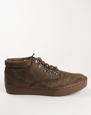 Urbanart George Casual Lace Up Boot Chocolate