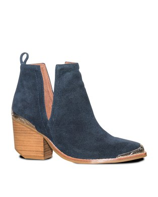 Jeffrey Campbell Cromwell Boots Suede Navy