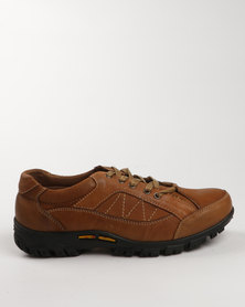 Grasshoppers Ventry Leather Casual Lace Up Shoe Tan