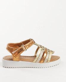 Rock & Co Sparkle Sandal Gold