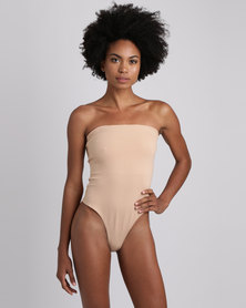 Brett Robson Nandi Boobtube Thong Bodysuit Nude