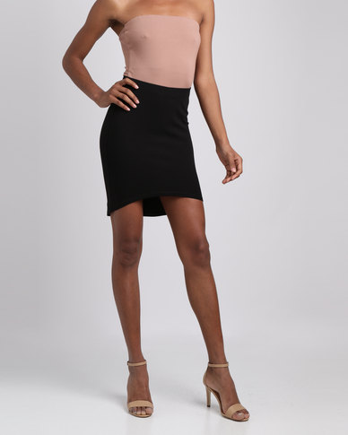 Brett Robson Thando Curved Hem Skirt Black