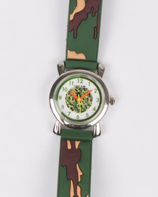 Cool Kids Boys 3D Camo Watch Green