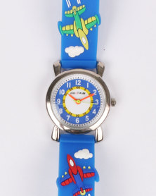 Cool Kids Boys 3D Airforce Watch Blue