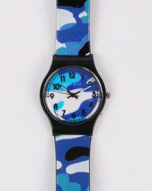 Cool Kids Boys Army Fashion Watch Blue