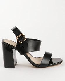 Gino Paoli PU Block Heels Black