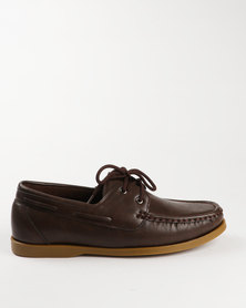 Luciano Rossi Casual Lace Up Shoe Coffee
