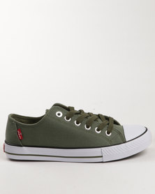 Levi's Trucker LO Canvas Shoe Olive