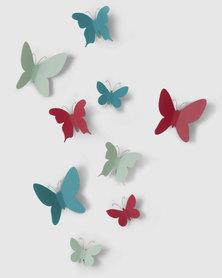 UMBRA Mariposa Wall Butterfly Decor Assorted (9pk)