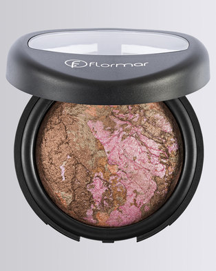 Flormar Professional Make-up Baked Terracotta Highlighter Marble Pink Gold