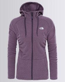 The North Face Mezzaluna Full Zip Hoodie Sweatshirt Purple