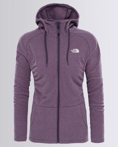 cc31fa53a The North Face Mezzaluna Full Zip Hoodie Sweatshirt Purple