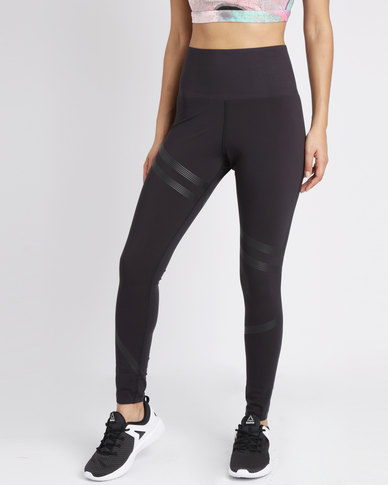 a1a314f9 Reebok Performance Linear High Rise Tights Black