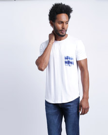 Utopia Inked Pocket T-Shirt White
