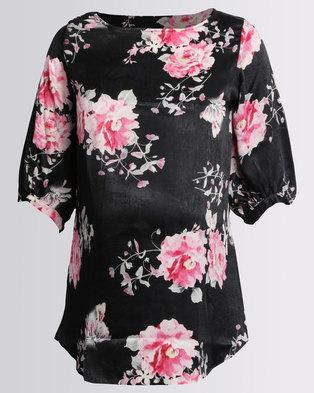 8ea7320e2be Me-A-Mama Delia Blouse Black Floral