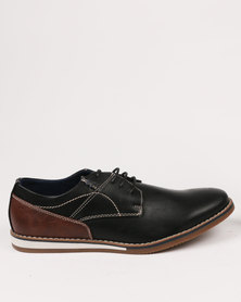 Zah Dylan Casual Lace Ups Black